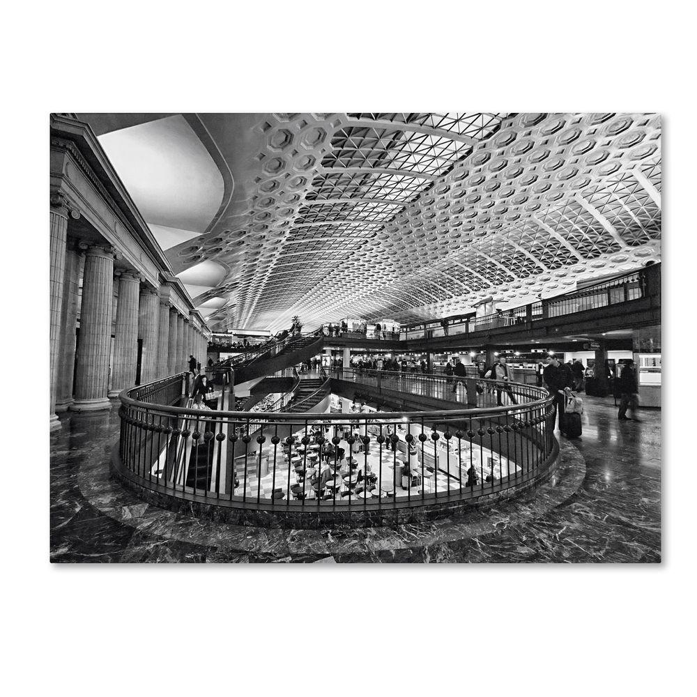 Trademark Fine Art 18 in. x 24 in. Union Station Shops Interior Canvas Art