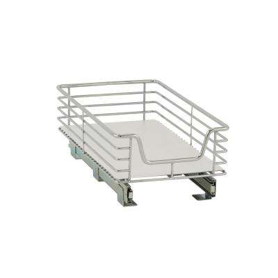 11.5 in. Standard Extended Organizer in Chrome with White Liner