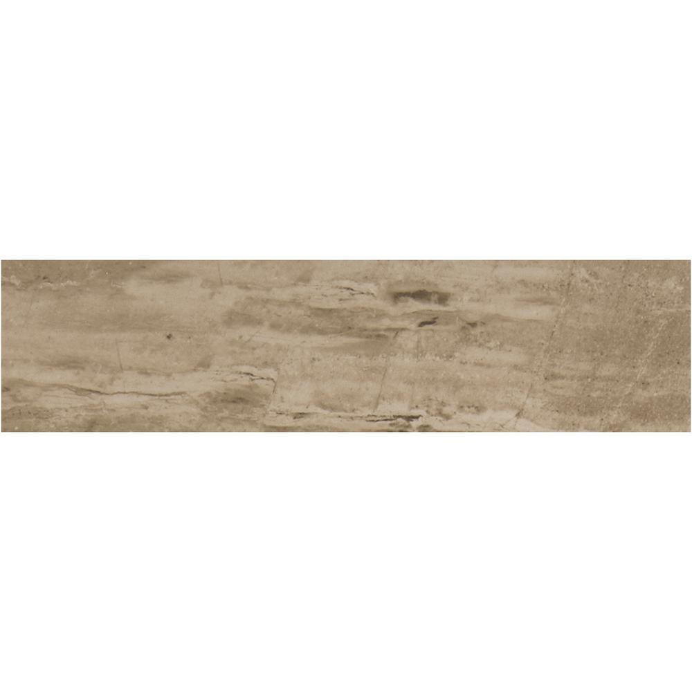 Sanford Desert Sand Matte 6 in. x 24 in. Color Body Porcelain Floor and Wall Tile (10.67 sq. ft. / case)