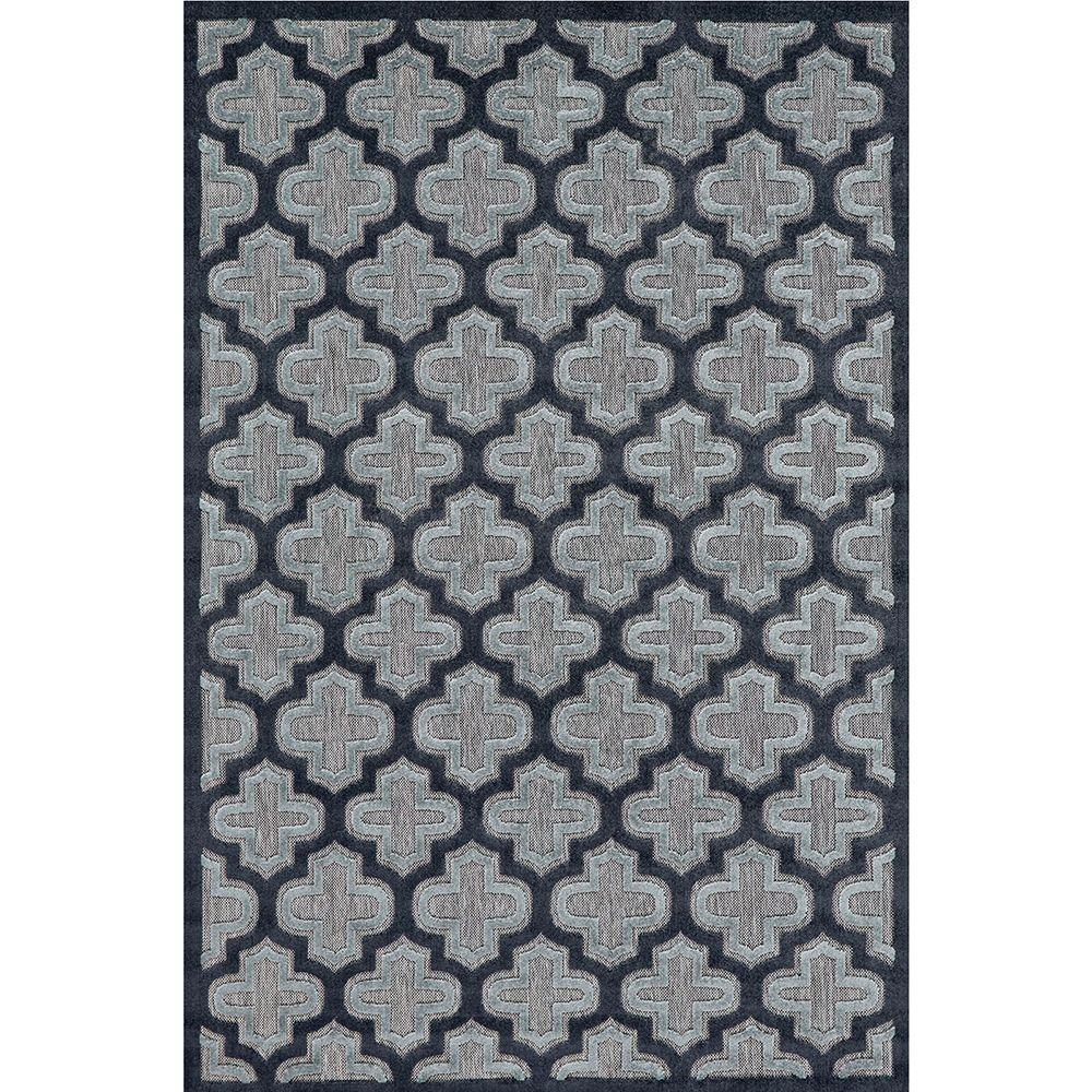 Feizy Raphia II Black/Charcoal 2 ft. 1 in. x 4 ft. Indoor/Outdoor Accent Rug