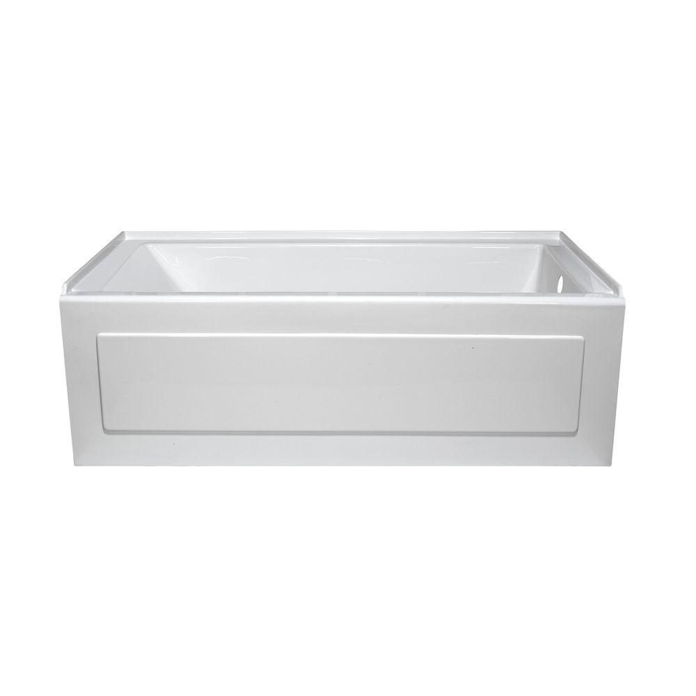 Lyons Industries Linear 5 ft. Whirlpool Tub with Right Drain in White