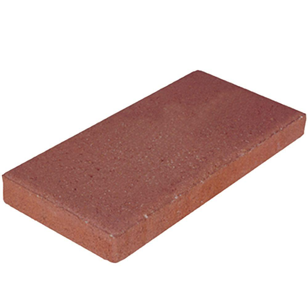 16 in x 8 in x 175 in River Red Concrete Step Stone74051 The