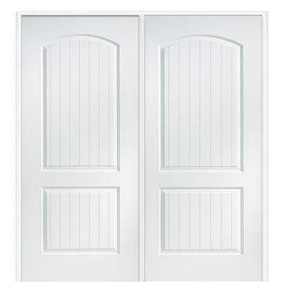 74 in. x 81.75 in. Primed Santa Fe Smooth Surface Solid Core Interior Double Door