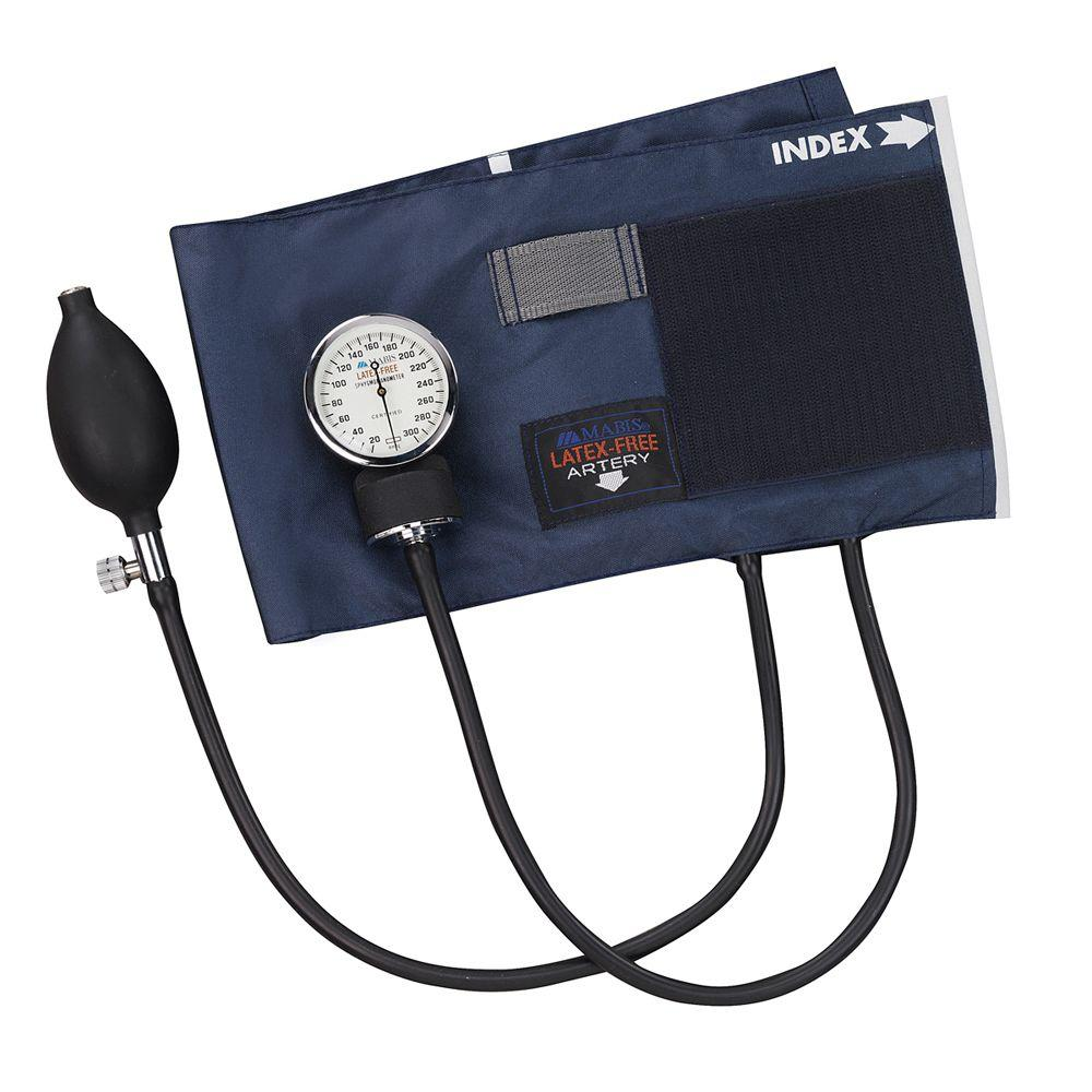 null Precision, Latex-Free Aneroid Sphygmomanometers with Blue Nylon Cuff and Thigh