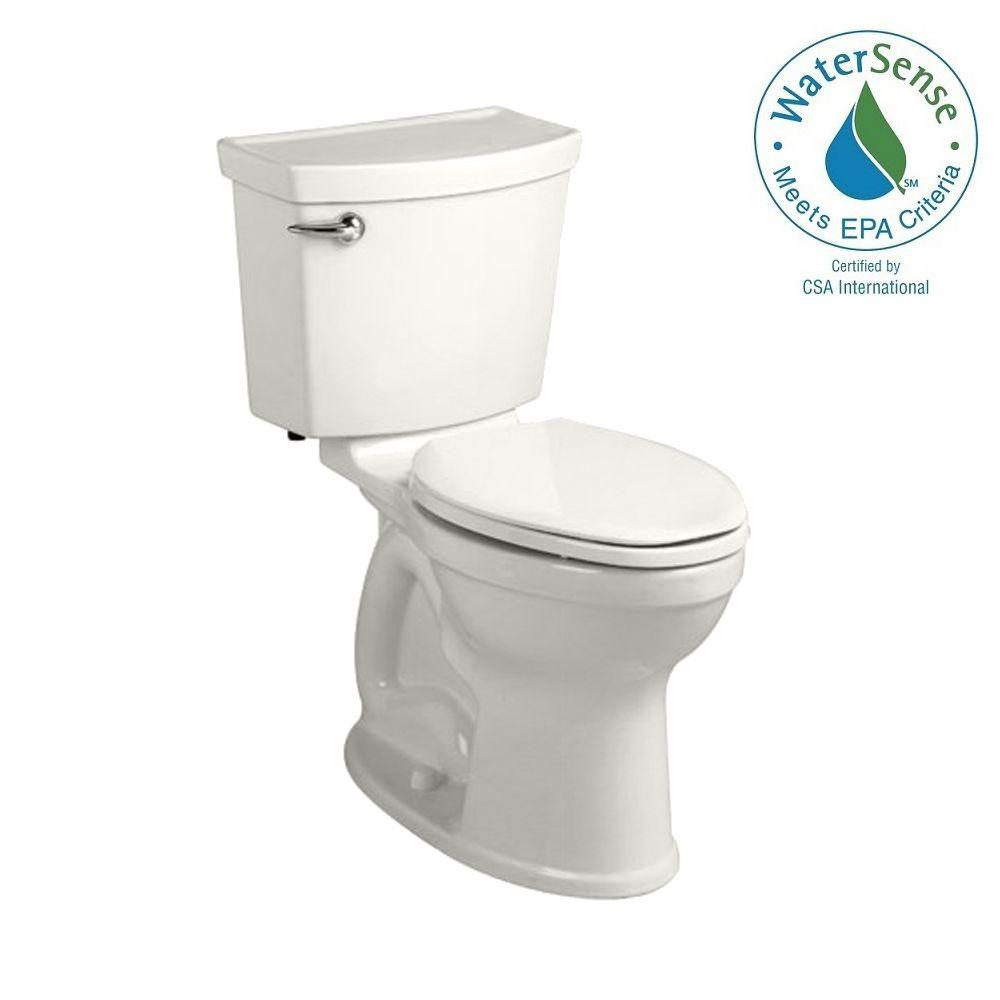 American Standard Champion 4 HET Tall Height 2-piece 1.28 GPF High-Efficiency Round Toilet in White