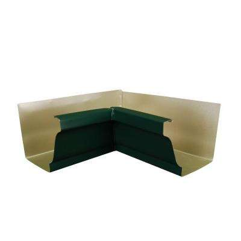 6 in. Grecian Green Aluminum Inside Box Gutter Miter