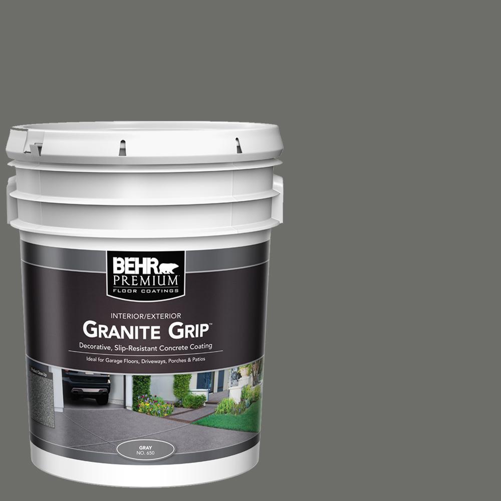 5 gal. Gray Granite Grip Decorative Interior/Exterior Concrete Floor Coating