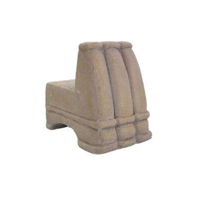 2.5 in. W Composite Pot Feet in French Limestone (Set of 3)