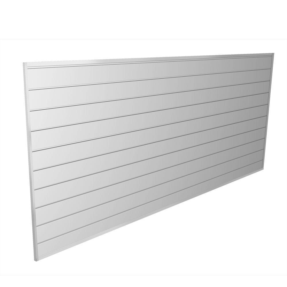 PVC Slatwall 8 ft. x 4 ft. White