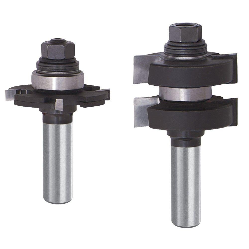 Diablo 3 8 In Carbide Adjustable Tongue And Groove Router Bit Set