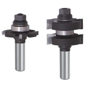 Diablo 3/8 inch Carbide Adjustable Tongue and Groove Router Bit Set by Diablo