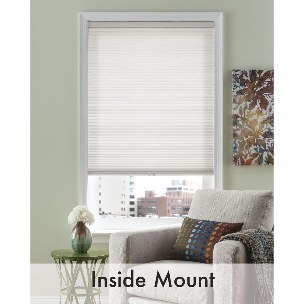 White 3/8 in. Cordless Light Filtering Cellular Shade - 54 in.