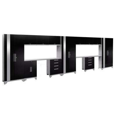Performance 2.0 72 in. H x 234 in. W x 18 in. D Garage Cabinet Set in Black (14-Piece)