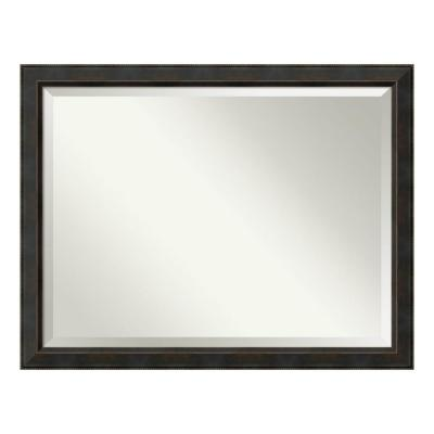 Signore 45 in. W x 35 in. H Framed Rectangular Beveled Edge Bathroom Vanity Mirror in Bronze