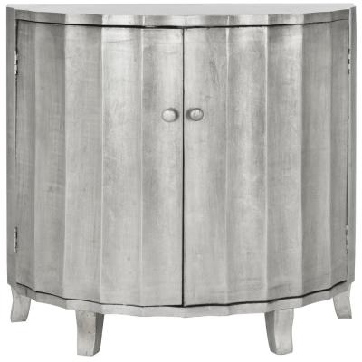 Rutherford 2-Door Silver Leaf Cabinet