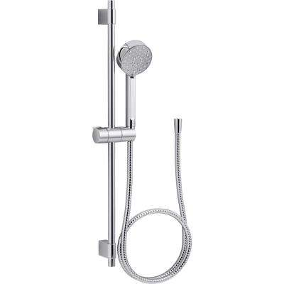 Awaken 3-spray Single Function Handshower with Slide Bar Kit in Polished Chrome