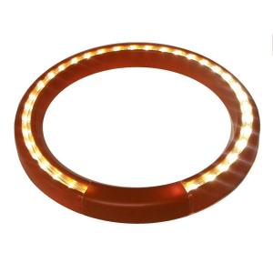 13 inch Terra-Cotta Lighted LED Halo Ring Indoor/Outdoor Planter Accessory
