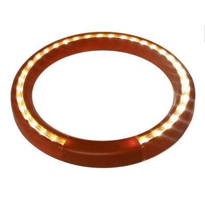 13 in. Terra-Cotta Lighted LED Halo Ring Indoor/Outdoor Planter Accessory