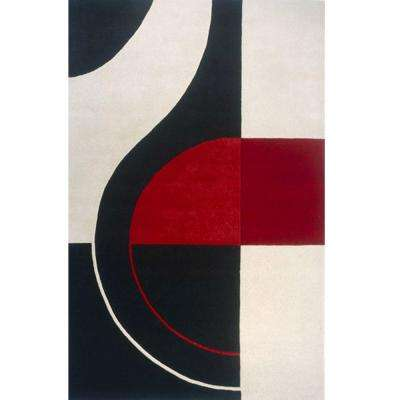 Art Craft Collection Black 8 Ft X 10 Area Rug