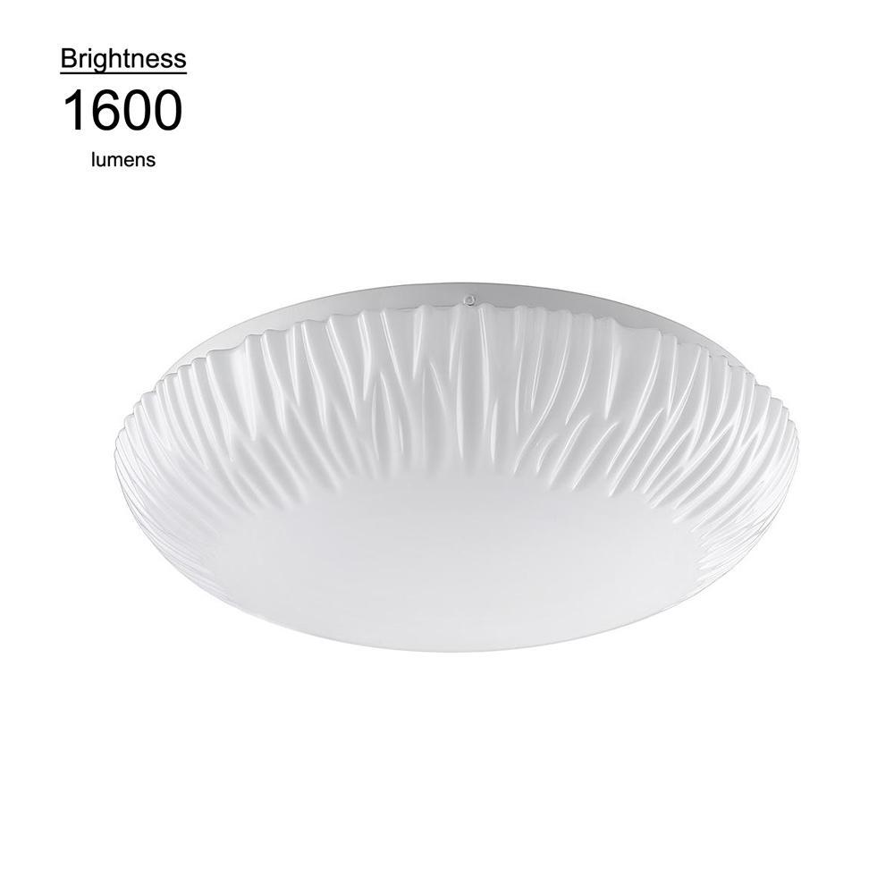 15 in. Falls 100 Watt Equivalent White Integrated LED Flushmount