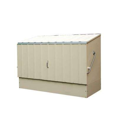 6 ft. x 3 ft. Cream Heavy Duty Steel Bicycle Storage Locker