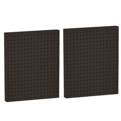 20.25 in. H x 16 in. W Black Styrene Pegboard with One Side (2-Pieces per Box)