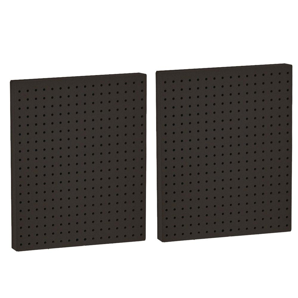 Azar Displays 20.25 in. H x 16 in. W Black Styrene Pegboard with One Side (2-Pieces per Box)