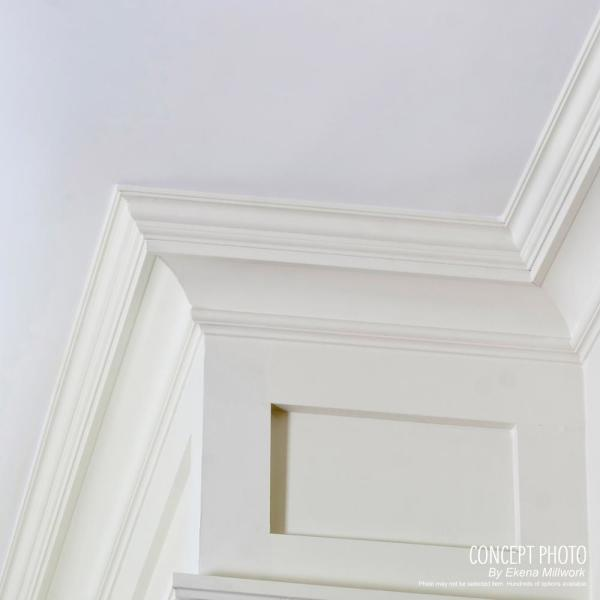 Ekena Millwork 2 In X 2 In X 94 1 2 In Polyurethane Valeriano Crown Moulding Mld02x02x03va The Home Depot