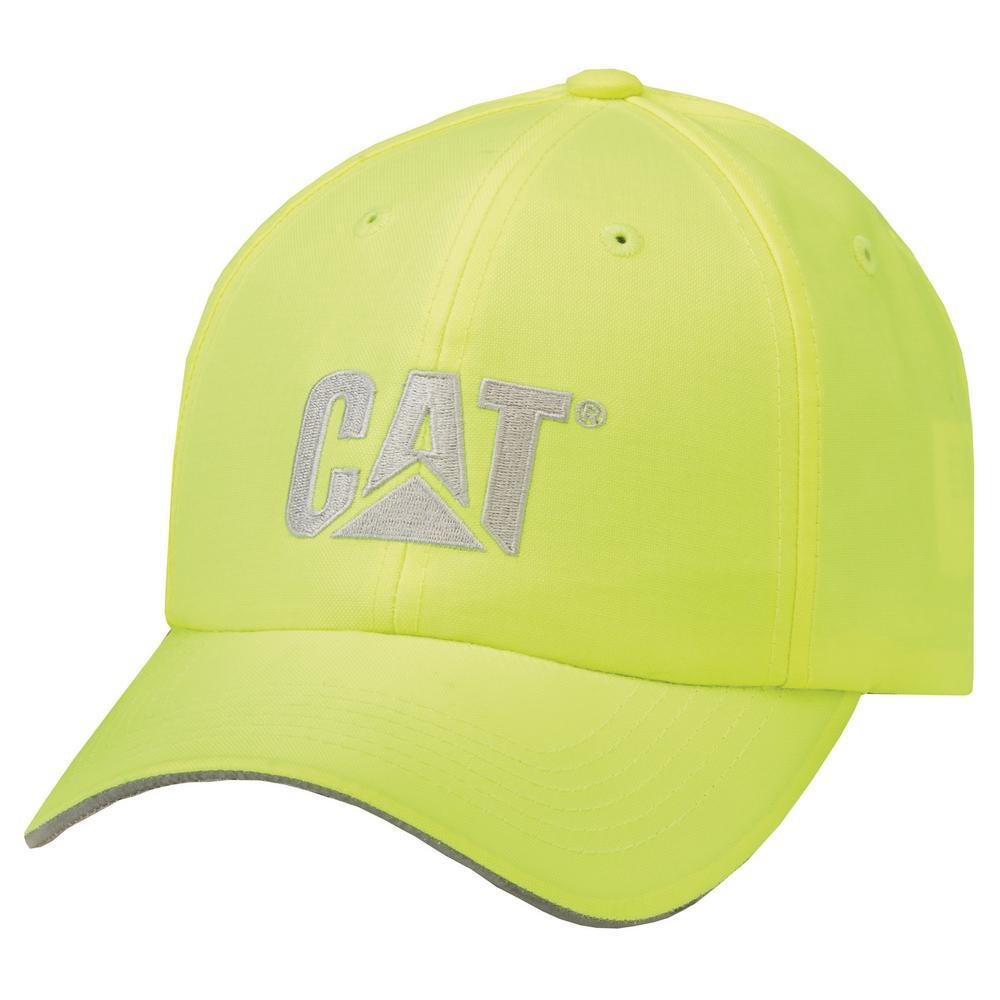 39c9ecbfd184f Caterpillar Hi-Vis Men s One Size HVYellow Polyester Cotton Cap Headwear