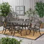 Sarasota Bronze 7-Piece Aluminum Rectangular Outdoor Dining Set
