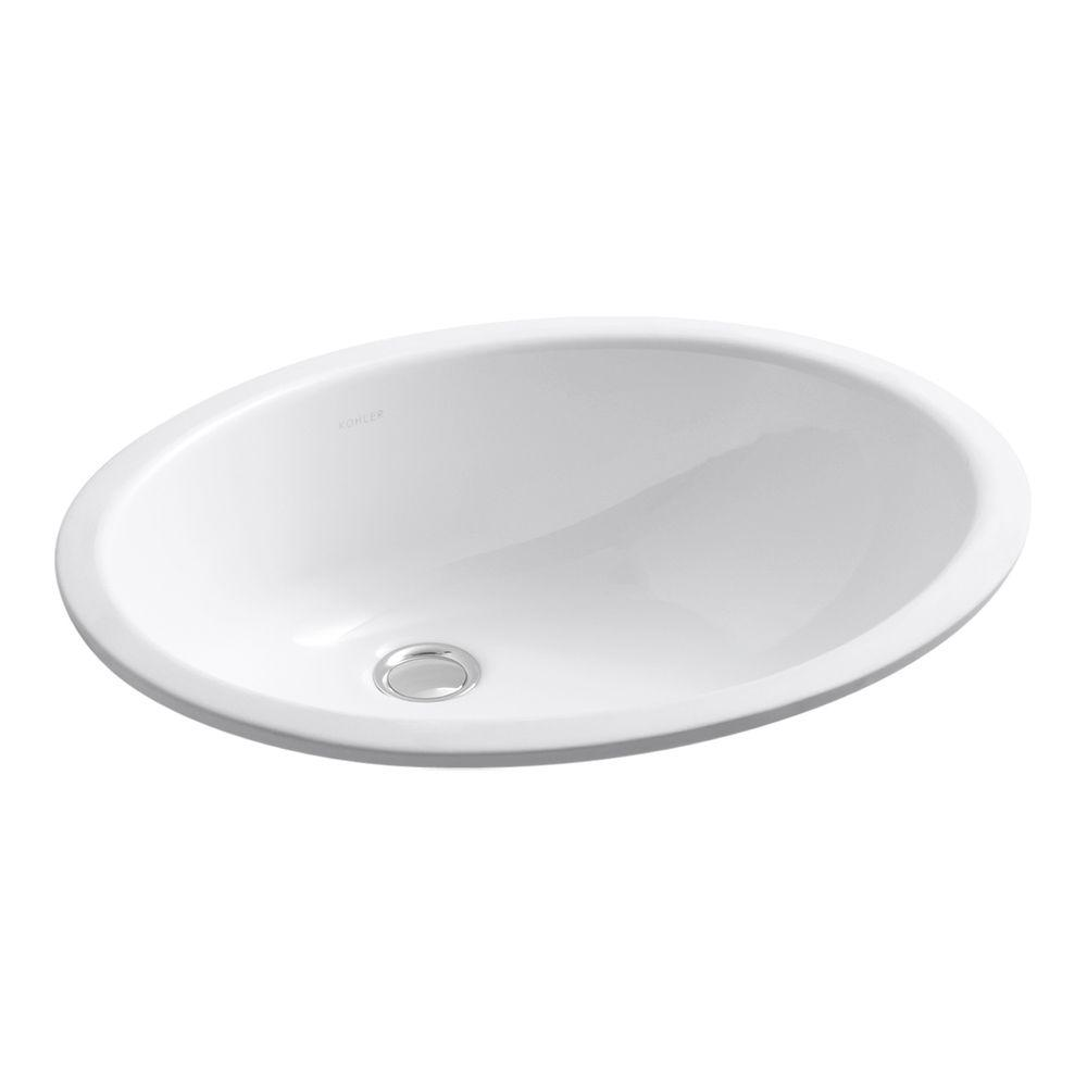Caxton Vitreous China Undermount Bathroom Sink with Glazed Underside in White