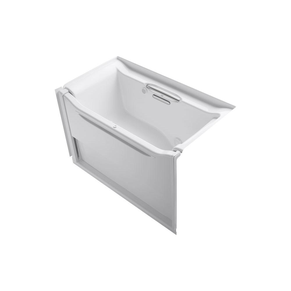 KOHLER Elevance 5 ft. Air Bath Tub in White-K-1914-GRBW-0 - The ...