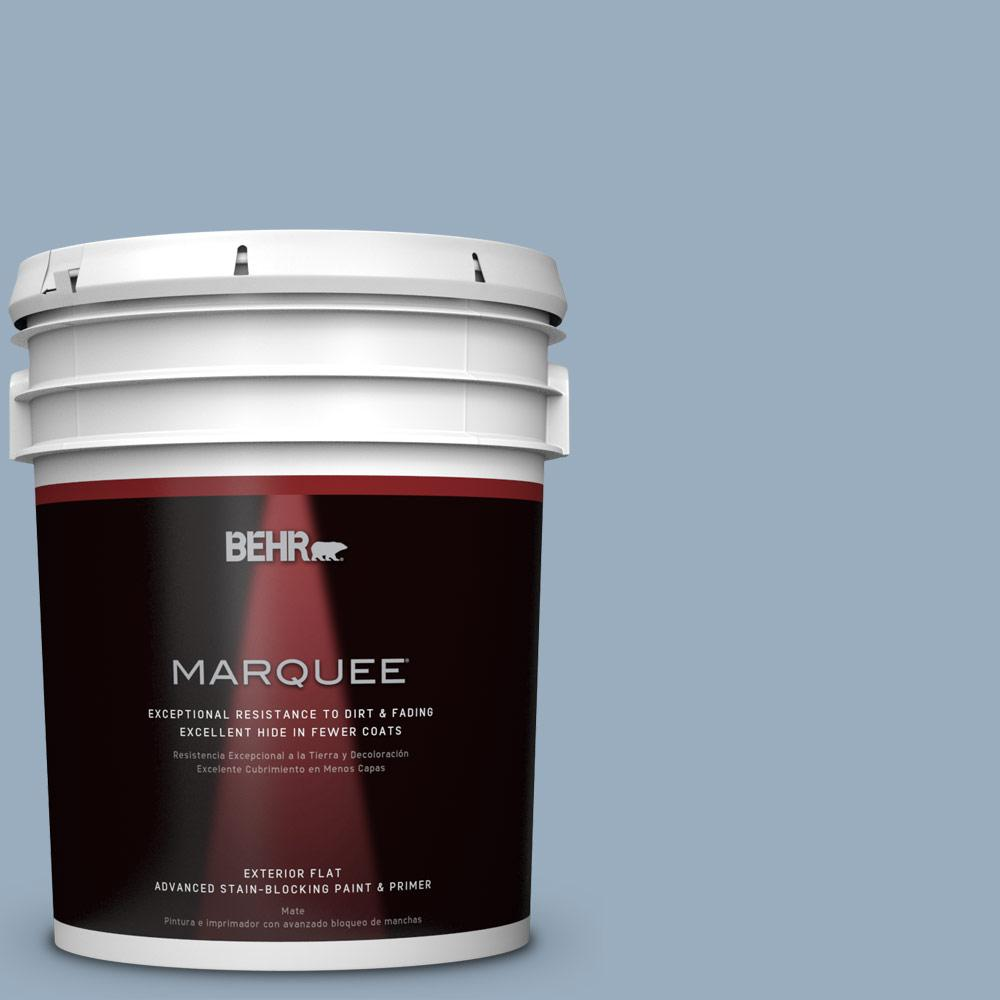 BEHR MARQUEE 5-gal. #S510-3 Ombre Blue Flat Exterior Paint