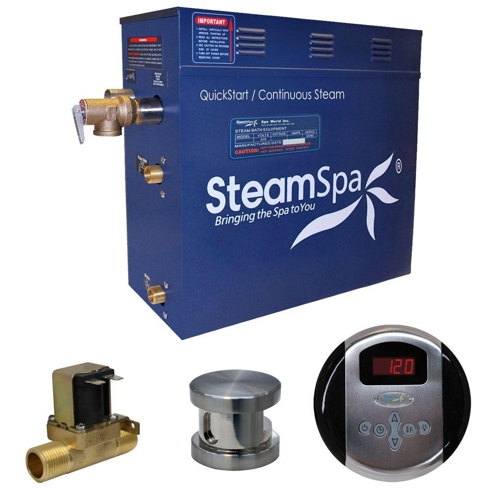 Oasis 4.5kW QuickStart Steam Bath Generator Package with Built-In Auto Drain