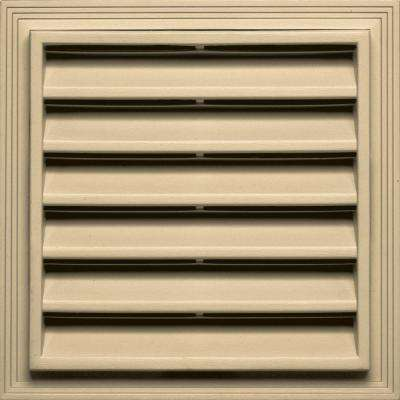 12 in. x 12 in. Square Gable Vent in Dark Almond