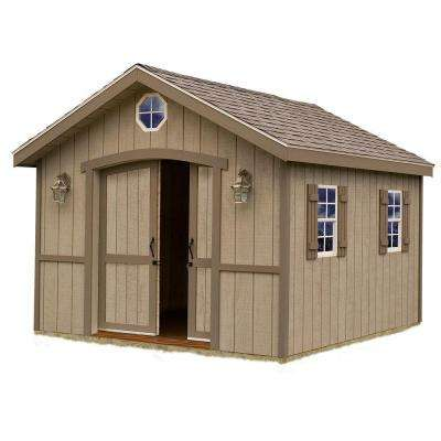 Cambridge 10 ft. x 16 ft. Wood Storage Shed Kit
