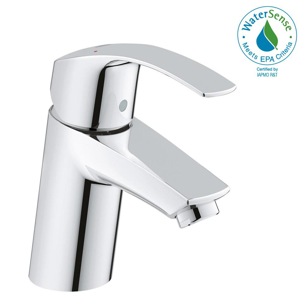 Eurosmart New Single Hole Single-Handle Low-Arc Bathroom Faucet in StarLight