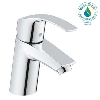 Eurosmart New Single Hole Single-Handle Low-Arc Bathroom Faucet in StarLight Chrome
