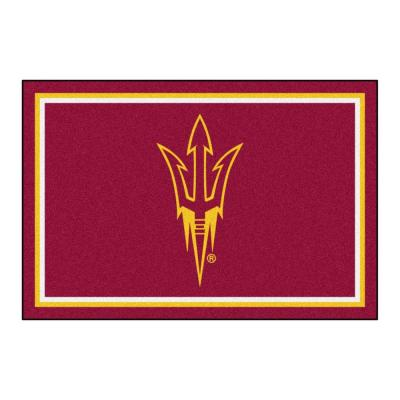 NCAA Arizona State University Maroon 5 ft. x 8 ft. Indoor Area Rug