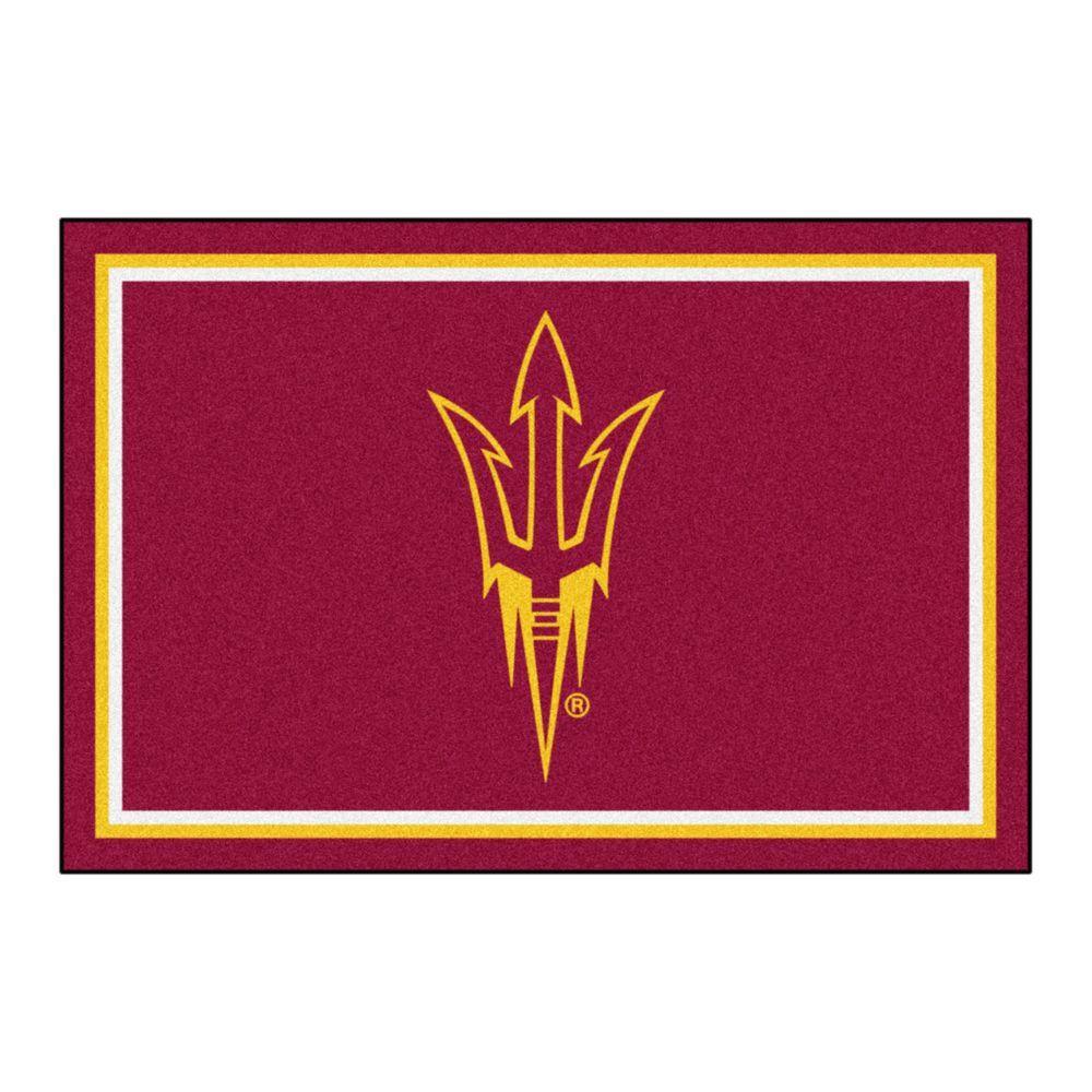 NCAA Arizona State University Maroon 5 ft. x 8 ft. Indoor Area Rug