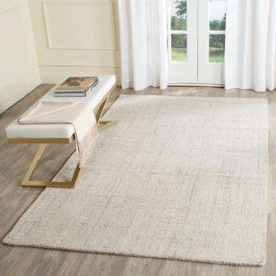 Abstract Ivory 6 ft. x 9 ft. Area Rug