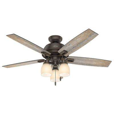 Donegan 52 in. LED Indoor Onyx Bengal Bronze Ceiling Fan with 3-Light