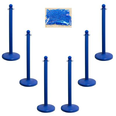 Medium Duty Blue Stanchion and Chain Kit
