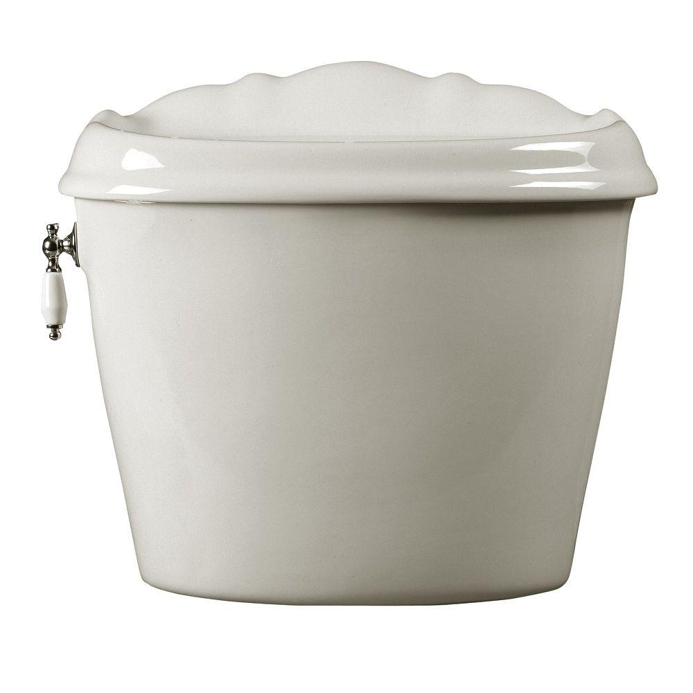 American Standard Reminiscence Elongated Toilet Tank Cover Only in White-DISCONTINUED