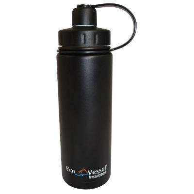 20 oz. Boulder Triple Insulated Bottle with Screw Cap - Black Shadow (Powder Coat)