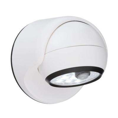 White 6-LED Wireless Motion-Activated Weatherproof Porch Light
