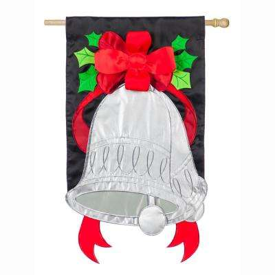 28 in. x 44 in. Silver Bells House Applique Flag