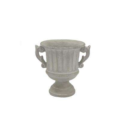 7.75 in. Gray Footed Urn