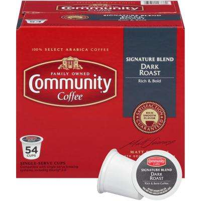Signature Blend Dark Roast Coffee Single Serve Cups (54-Pack)