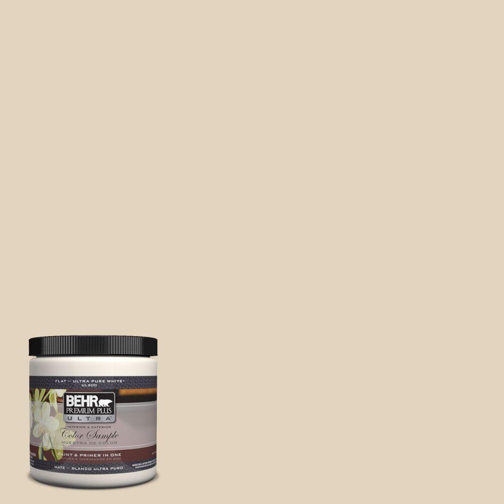 BEHR Premium Plus Ultra 8 oz. #UL160-13 Wax Sculpture Interior/Exterior Paint Sample